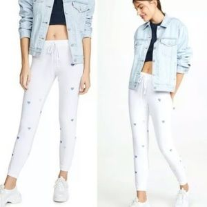 Chaser Heart Joggers Large White Cozy Soft